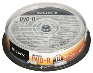 DVD-R Sony 10DMR47SP 4,7GB 16x 10szt. cake