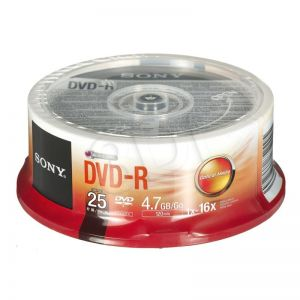 DVD-R Sony 25DMR47SP 4,7GB 16x 25szt. cake