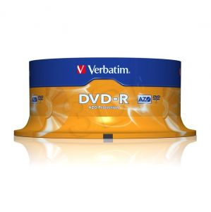 DVD-R Verbatim 4,7GB 16x 25szt. spindle AZO