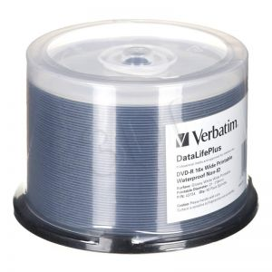 DVD-R Verbatim 4,7GB 16x 50szt. spindle printable, waterproof